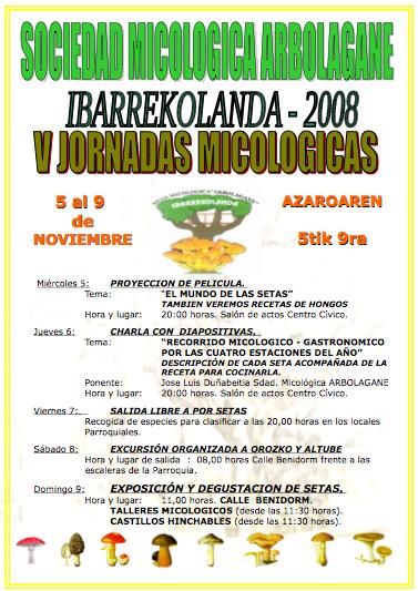 V Jornadas micologicas